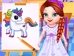 Baby Ariel's Fantastic Painting Class